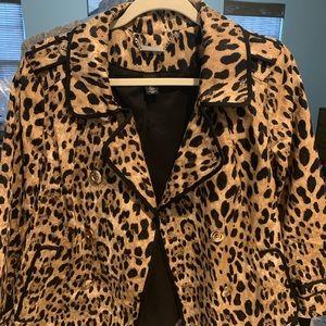 WHBM Leopard Print Swing Blazer Size 10